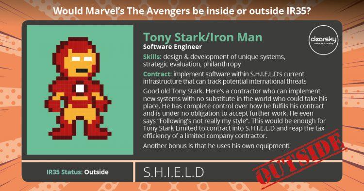 IR35 Status of Iron Man